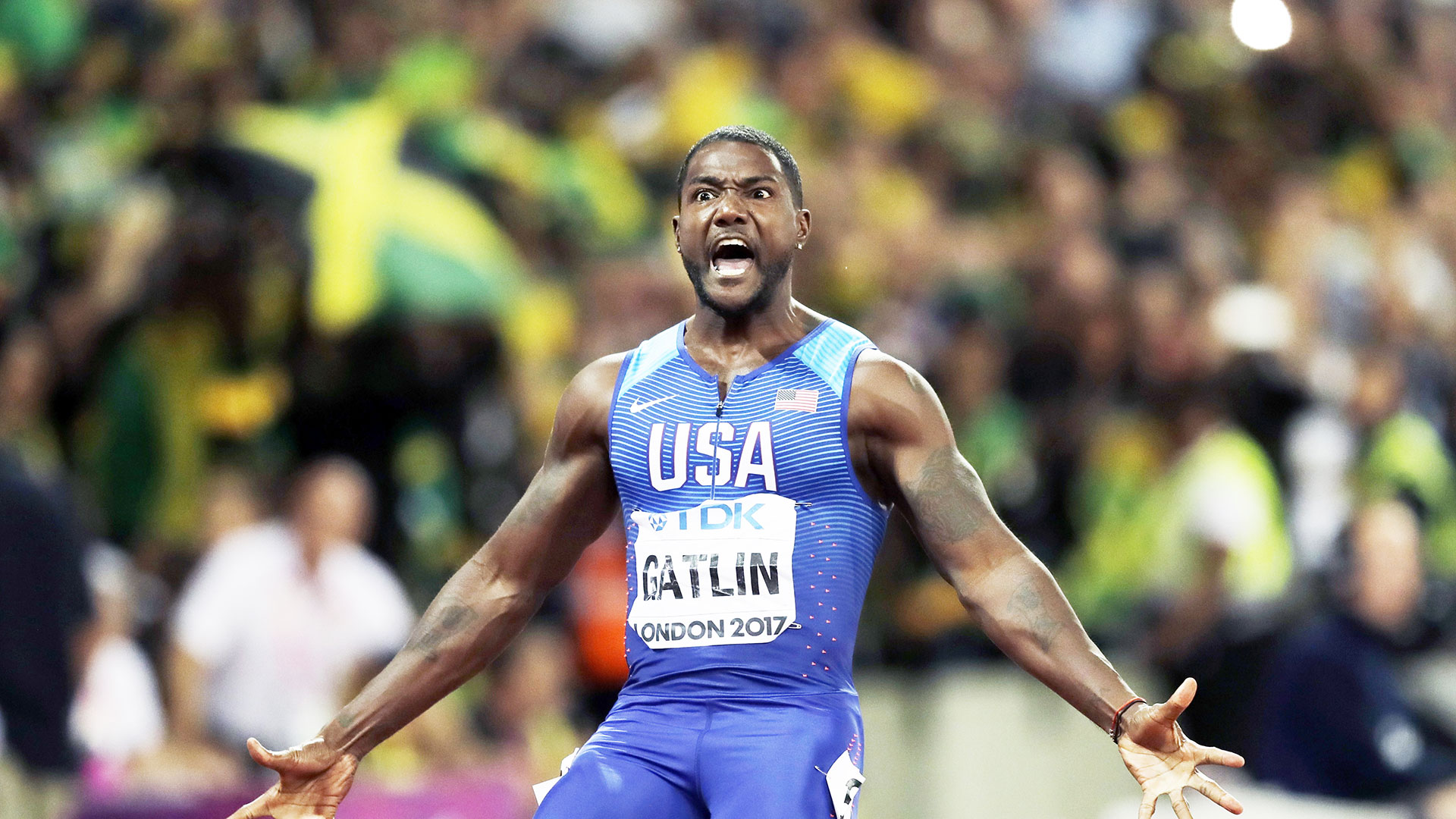 Justin-Gatlin-wins-the-100m-at-London-2017